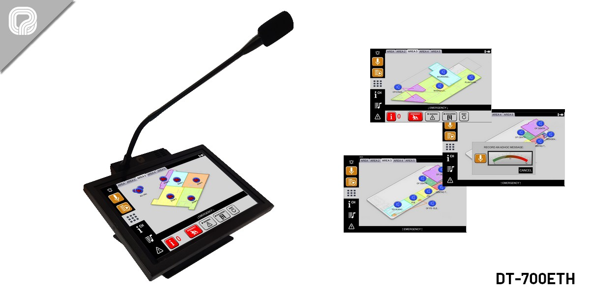 DT-700ETH | Microphone console with touch screen